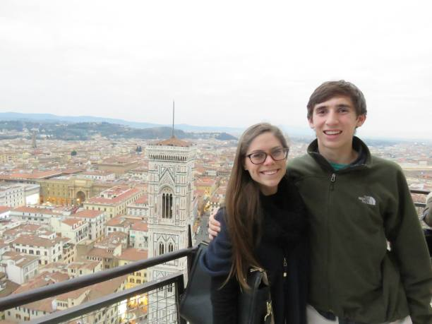 At the top of Florence's Duomo... magical place