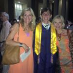 Graduation with my momma and her sister