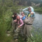 Fly Fishing and laughing at Ab