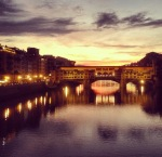 Florence's Ponte Vecchio at sunrise
