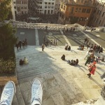Chillin' at Rome's Spanish Steps