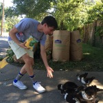 feeding the ducks with Michael T